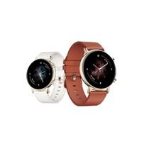HUAWEI 华为 WATCH GT 2 智能手表 时尚款 42mm 凝霜白/栗木红