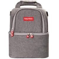 费雪(Fisher-Price)妈咪包双肩包可手提外出妈妈包母婴包多功能大容量奶爸包 时尚灰