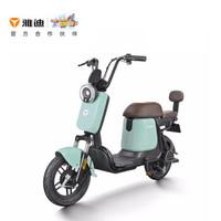 雅迪 yadea 新款锂电池Q1 48V14AH电瓶车踏板代步电动自行车 奶油绿