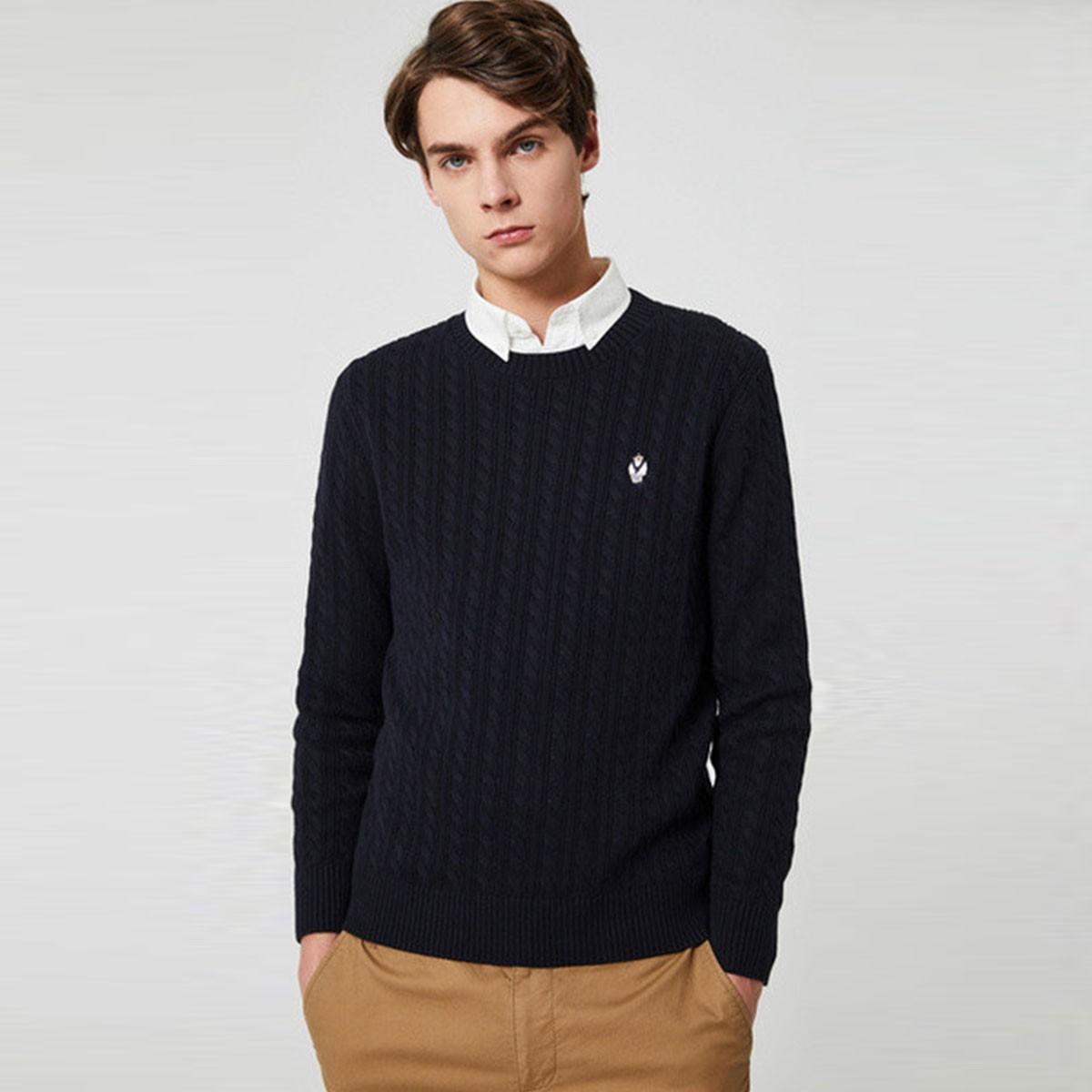 TEENIE WEENIE 维尼熊 TNKW201203A25男士纯棉针织衫