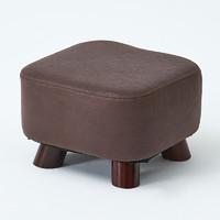 JIAYI 家逸 家用实木圆凳 棕色矮凳