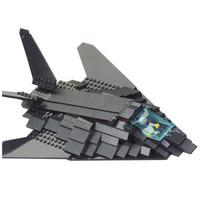 快乐小鲁班飞  武装直升飞机模型 B0108  F117隐形轰炸机 209片