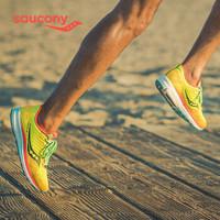 Saucony索康尼2020新品RIDE驭途13 慢跑训练鞋缓震减震男子跑鞋S20579 黄绿-10 43