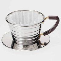 中亚Prime会员:Kalita 不锈钢WAVE 咖啡滤杯