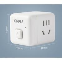 OPPLE 欧普照明 魔方桌面插座 2面5孔 带开关