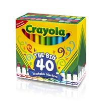 中亚Prime会员:Crayola 多色超净可水洗马克笔(40 支)