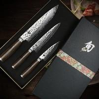 KAI 贝印 旬尊贵系列 手工锤纹刀具 礼盒套装