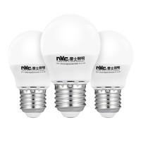 nvc-lighting 雷士照明 E-NLED001J/3W e27螺口节能灯泡 3W