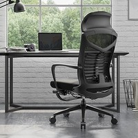 SIHOO 西昊 M81C 人体工学电脑椅(黑色+网布+带脚踏)