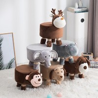 布兰格迪 卡通动物实木换鞋凳