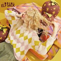 elf sack 妖精的口袋 19402144 女款格纹针织衫