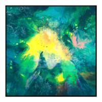 艺术品:王唐糖《梦中奇幻森林》限量签名版画 油画 客厅装饰画 画框尺寸95*95cm