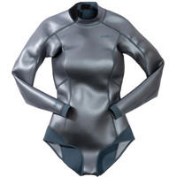 迪卡侬 连体湿衣长袖防晒显瘦滑面subea女连体潜水服游泳衣
