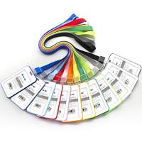 普雅  B-827 彩色大容量双面工作证卡套 带挂绳 多色可选