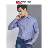 Hodo 红豆 ECS32090 男士磨毛长袖衬衫 *2件