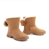 双11预售:BeLLE 百丽 3D964DZ0 女士牛皮革雪地靴
