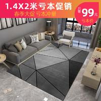 北欧风ins地毯卧室客厅简约沙发茶几毯满铺房间家用大面积地毯垫