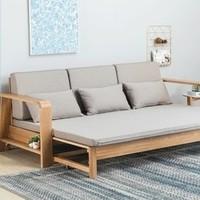 双11预售:维莎 w0439 日式全实木沙发床