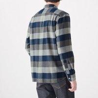 限尺码:无印良品 MUJI 男式 新疆棉 法兰绒纯棉衬衫