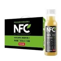 农夫山泉NFC果汁苹果汁饮料整箱批发300ML*10瓶