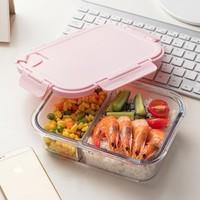 聚划算百亿补贴:物生物 分隔玻璃密封饭盒 双分隔 1040ml