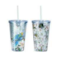 大都会艺术博物馆 鹦鹉木槿花系列 便携吸管杯