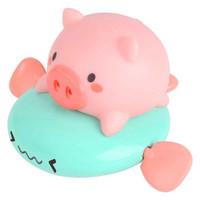 KIDNOAM 卡通小猪骑飞鱼游泳喷水 2只装