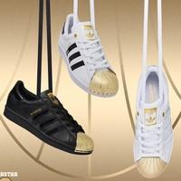 双11预售:adidas 阿迪达斯 SUPERSTARMETAL TOE 男女款运动鞋