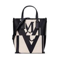 MCM MWPAAMH02BK001 黑白拼色迷你帆布手提包购物袋