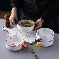 烤箱专用碗家用爱心创意网红菜盘北欧日式陶瓷餐具微波炉焗饭烤盘