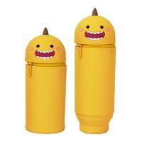 YAMAYO 北威 硅胶笔袋/收纳盒文具盒 直筒款 笑脸恐龙