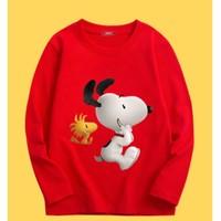 移动专享:SNOOPY 史努比 男童T恤纯棉长袖