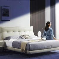 21日0点、双11预售:ZUOYOU 左右家私  DR102 意式轻奢真皮实木软床 单独皮床 1.8*2m