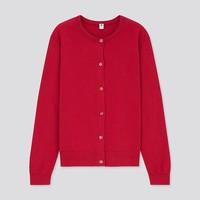 双11预售:UNIQLO 优衣库 女童圆领长袖开衫