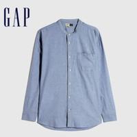 21日0点、双11预售:Gap 554982 男装纯棉牛津布通勤款休闲长袖衬衫