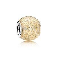 双11预售:Pandora 796327EN146 金色闪烁球形925银串饰