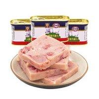梅林 小白猪火腿猪肉罐头 198g *7件