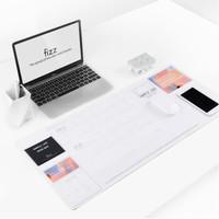京东PLUS会员:fizz 飞兹 FZ662001 多功能收纳书写桌垫 705*320mm 白色 *3件