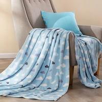 LUOLAI 罗莱 法兰绒印花毯子 150*200cm