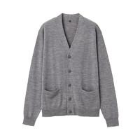 双11预售:MUJI 无印良品 M9AA023 男式美利奴羊毛开衫
