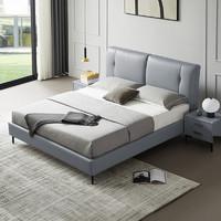 双11预售、新品发售:ZUOYOU 左右家私 DR106 轻奢真皮软床 1.5/1.8m普通款
