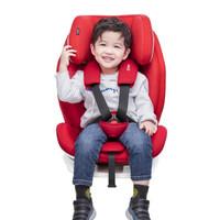 双11预售:360 T901 儿童安全座椅 9个月-12岁 isofix接口 红色