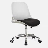 美家创展 人体工学贝壳电脑椅 白框-黑色