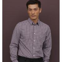 双11预售:H&M 0781758 长袖修身格子衬衣