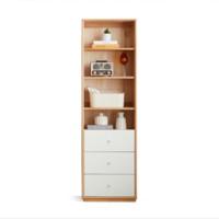 双11预售:VISAWOOD 维莎原木 F02008 全实木书柜 55*32*183cm