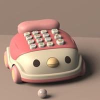 移动专享:砺能 小鸡电话机 粉色