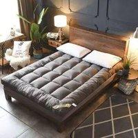 向真 羽丝绒加厚可折叠床垫 0.9m床 厚12cm