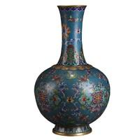 双11预售:尚得堂铜工艺品家居装饰摆件赏瓶 林氏铜铸胎掐丝珐琅赏瓶
