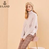 双11预售:E·LAND 衣恋 EEKW98V21I 女士绞花针织毛衣
