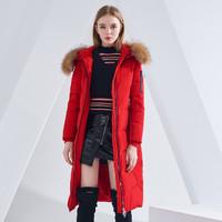 双11预售:BOSIDENG 波司登 B80141516DSY 女士长款过膝新款羽绒服